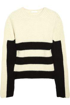 Chloé|Striped ribbed cashmere sweater|NET-A-PORTER.COM