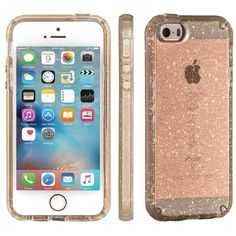 43b1d07cb02 Speck Original CandyShell Clear Case iPhone SE/5S/5 Gold Glitter/Clear