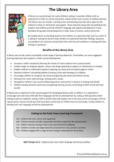 Library Area Classroom Posters – Roxana I. Play Based Learning, Project Based Learning, Learning Through Play, Early Learning, Quotes About Children Learning, Learning Quotes, Early Education, Childhood Education, Eylf Learning Outcomes