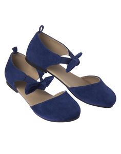 Faux Suede Bow Flats at Crazy 8