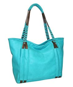 Look what I found on #zulily! Turquoise Whip It Tote #zulilyfinds