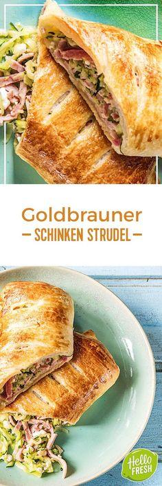 Step by Step Rezept: Goldbrauner Schinken-Zucchini-Strudel Kochen / Essen / Ernährung / Lecker / Kochbox / Zutaten / Gesund / Schnell / Frühling / Einfach / DIY / Küche / Gericht / Blog / Leicht / selber machen / backen   / 30 Minuten / Strudel / Gebäck / Herzhaft  #hellofreshde #kochen #essen #zubereiten #zutaten #diy #rezept #kochbox #ernährung #lecker #gesund #leicht #schnell #frühling #einfach #küche #gericht #trend #blog #selbermachen #backen #strudel #schinken #zucchini #gebäck…