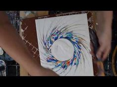 Dynamic Fluid art Circle w tendrils # 2477 18 - Bing video Acrylic Painting For Beginners, Acrylic Painting Techniques, Art Techniques, Art Addiction, Cottage Art, Fluid Acrylics, Pour Painting, Learn To Paint, Acrylic Pouring