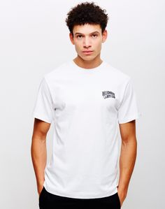 New In   Billionaire Boys Club - Small Arch Logo T-Shirt in White   Shop all men's clothing at The Idle Man
