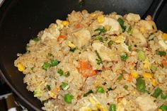 Light Chicken Fried Rice -- easy homemade chinese take-out