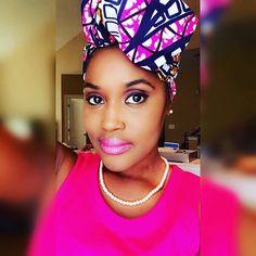 African printed head wrap! @IAMAWOG #headwraps #africanprint #africanqueen #africansista #thewraplife