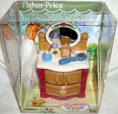 Briarberry Collection Dresser Furniture Set Bear Fisher Price 1999 Toy Doll   eBay