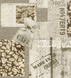 PAPEL PINTADO RASCH 831818 - AQUA DECO. El aroma a café de cuba en sus paredes a un precio de 45,00 €. ¡¡¡Ideas para decorar cocinas con papel pintado para paredes!!!Un producto vinílico y superlavable.