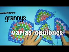#Triángulo #Granny Colores Punto Alto #Ganchillo #Crochet Triangle #DIY