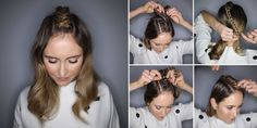 Learn this double Dutch braid, positioned along your parting, in 7 simple steps