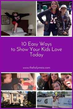 You love your kids! But let's face it, life gets busy. Here are 10 easy (and inexpensive) ways to show your kids your love today. Make your family feel special! 10 Easy Ways to Show Your Kids Love Today|The Holy Mess