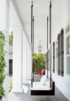 Best Romantic Life Style: porch swing ~welcome home