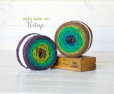 2 Hand Dyed Yarn Balls  100% Wool  Color: by CraftyWoolFelt