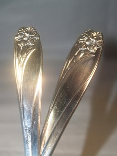 Hair Sticks made from Vintage Silverware  by silverwearbobbles, $25.00