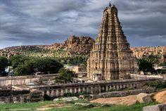 Virupaksha Temple is located in Hampi