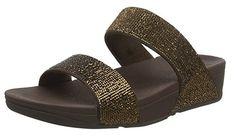 Fitflop Damen Electra Micro Slide Sandalen, Einheitsgröße, One Size Clogs, Womens Slippers, Ladies Slippers, Slipper Sandals, Fitflop, Bronze, Sneaker, Electra, Link
