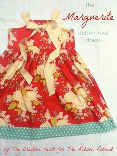 Dress Sewing Tutorial: Ribbon Tie Dress If you think this dress is beautiful, wait until you...