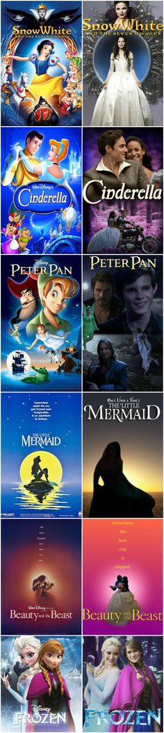 Just now realized the differences between the Disney ones and OUAT stories