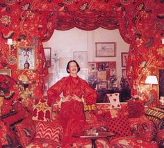 vreelands vogue spreads   Vreeland's all red only apartment