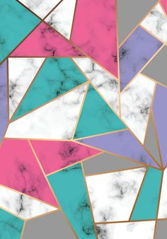 wallpaper abstract geometric color gold and marble; Pop Art Wallpaper, Cute Wallpaper For Phone, Aesthetic Pastel Wallpaper, Iphone Background Wallpaper, Colorful Wallpaper, Screen Wallpaper, Pattern Wallpaper, Aesthetic Wallpapers, Murs Violets