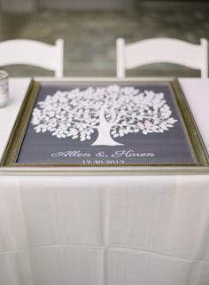 Family Tree Wedding Guest Book | photography by http://sarahkchen.net/