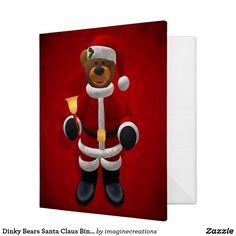 Dinky Bears Santa Claus Binder