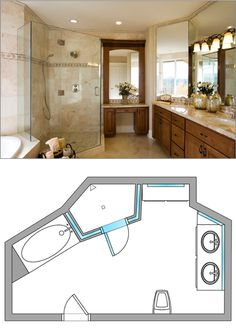 #Bathroom Design Ideas From Dulles Glass and Mirror: Neo-Angle Shower Door