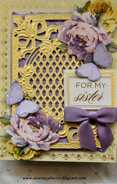 My Sweet Sister, My Sister, Card Kit, I Card, Embossed Paper, Anna Griffin, Scrapbooking Layouts, Sisters, Paper Crafts