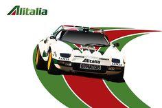 ALFA ROMEO...FIAT... LANCIA...ABARTH. Sport Cars, Race Cars, Car Illustration, Illustrations, Tuner Cars, Car Posters, Car Drawings, Automotive Art, Rally Car