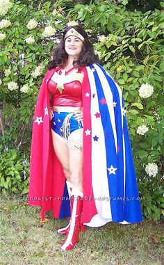 Coolest No-Sew Wonder Woman Costume... Coolest Homemade Costumes