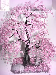 Bonsai Beaded Tree Home Decor - Sakura | Flickr - Photo Sharing!