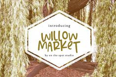 Willow Market Bonus Script Fonts Willow Market is a fun hand lettered display font with a BONUS script uppercase & lowercase only by OnTheSpotStudio Pretty Fonts, Beautiful Fonts, Christmas Fonts, Christmas Scrapbook, Geometric Font, Vintage Fonts, Retro Vintage, Script Logo