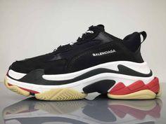 383234efe0c7 Balenciaga Triple S Black White Red - Cheap Balenciaga Shoes Sale Free  Shipping Balenciaga Shoes