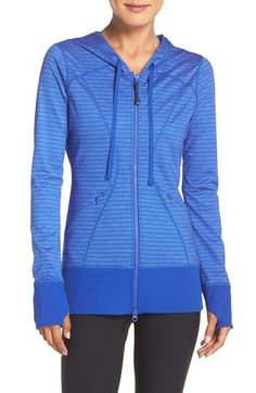 Free shipping and returns on Zella 'Hannah' Hooded Jacket at Nordstrom.com. Cozy up after class in a soft stretch-knit jacket designed with smooth contoured seams that flatter your figure and extra-long sleeves with thumbhole cuffs that keep your hands toasty.