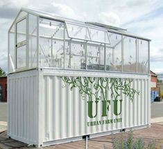 shipping container greenhouse urban farm unit by damien chivialle What Is Greenhouse, Greenhouse Farming, Diy Greenhouse, Homemade Greenhouse, Aquaponics Garden, Portable Greenhouse, Aquaponics Fish, The Farm, Container Buildings