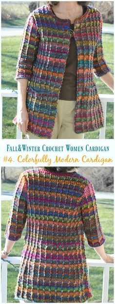 Fall & Winter Women Cardigan Free Crochet Patterns Colorfully Modern Cardigan Crochet Free Pattern – Fall & Winter Women Free Patterns The post Fall… Cardigan Au Crochet, Black Crochet Dress, Crochet Jacket, Sweater Cardigan, Summer Cardigan, Crochet Vests, Crochet Sweaters, Summer Jacket, Crochet Patterns Free Women