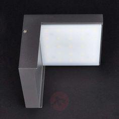 Modern Rachel LED outdoor wall light aluminium | Lights.ie