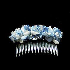 Lovely Paper Flower Wedding Flower Girl Combs/ Headpiece - GBP £ 0.50