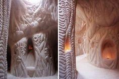 Ra Paulette creuse et sculpte des grottes à la pioche - http://www.2tout2rien.fr/ra-paulette-creuse-et-sculpte-des-grottes-a-la-pioche/