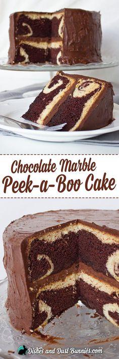 Chocolate Marble Peek-a-Boo Cake