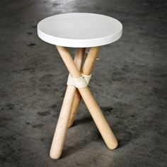 Stool White Maple now featured on Fab.