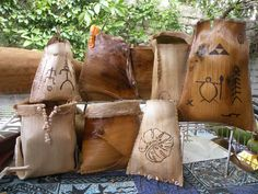 Palm Bark Baskets are only $20 each. They are harvested bark from the royal palm tree, fashioned into these beautiful fiber hanging baskets. All natural materials found, some of them wood burned with Hawaiian motifs. tamsenfox.com