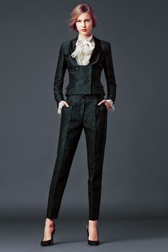 dolce and gabbana winter 2015 woman collection women's tuxedo