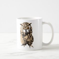 #Bubo bengalensis (Indian eagle-owl) Coffee Mug - #office #gifts #giftideas #business