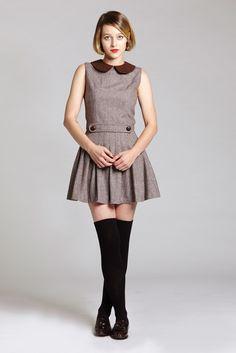 Brown Ecoliere Dress   L'école Des Femmes