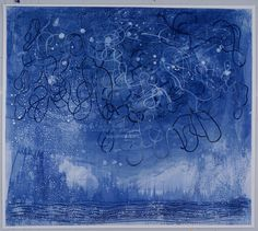"Stars and Net 2015 28""x23"" Ink on Yupo brianfrink.com  private collection"