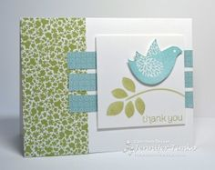 Betsy's bird Twitterpated by Jennifer Timko  Nice 2 tone use, good for blissful bird also with Christmas colours