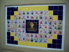 Tile Mural Walls for school fundraiser