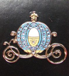 Disney CINDERELLA Jeweled Coach Retired Pin on Card