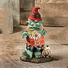 Zombie Gnome @ niftywarehouse.com #NiftyWarehouse #Zombie #Horror #Zombies #Halloween
